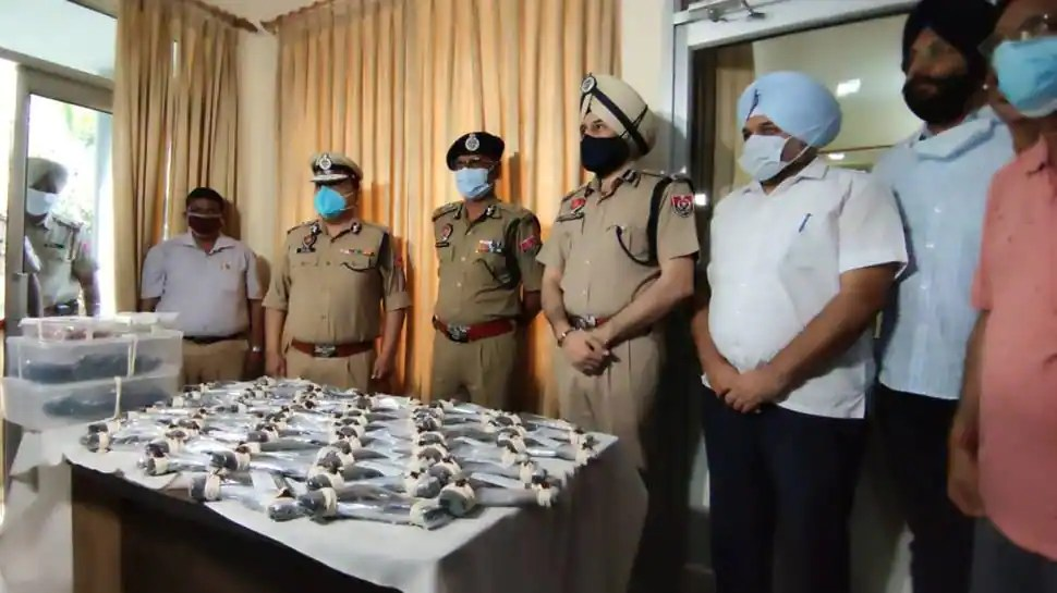 Major terror plan foiled, Punjab police seize huge cache of foreign-made weapons