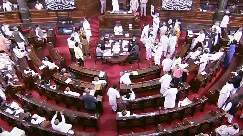 Pegasus row: Bedlam in Rajya Sabha, TMC MPs tear paper as IT Minister reads a statement