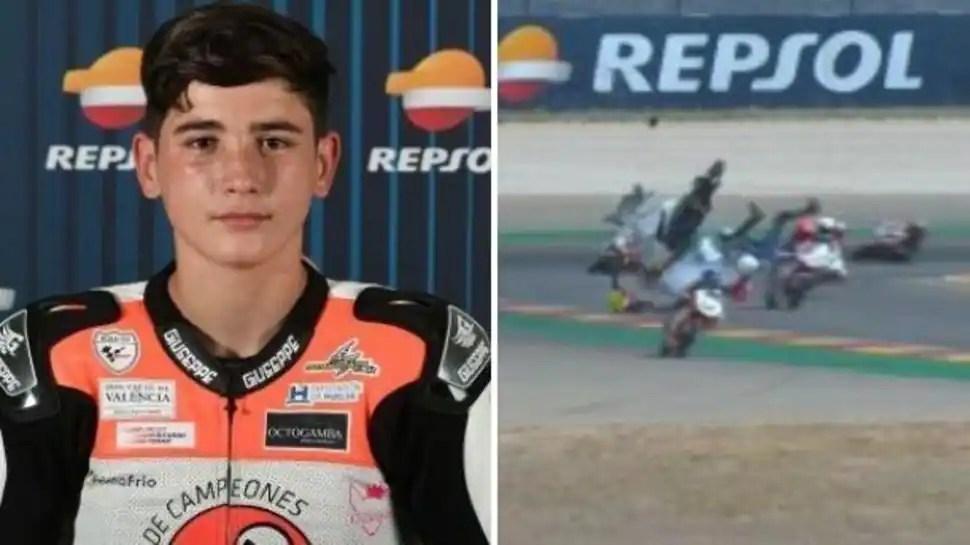 WATCH: 14-year-old motorbike rider Hugo Millan dies after crash at junior championship race