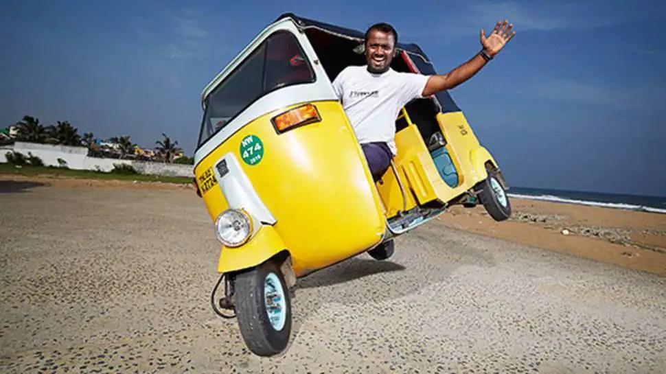 Certified Rajini fan! Man rides autorickshaw on two wheels, sets world record - video goes viral