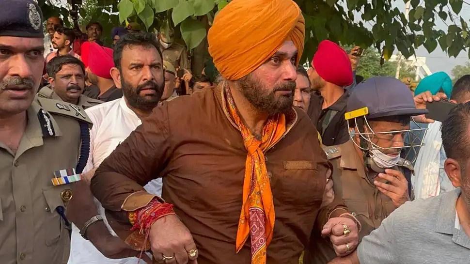 Navjot Singh Sidhu, Punjab cabinet ministers detained at UP border enroute to Lakhimpur Kheri