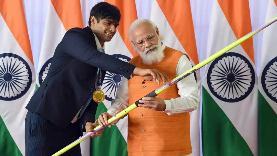 Neeraj Chopra's javelin gets Rs 1.5 crore bid in e-auction of PM Narendra Modi's mementos