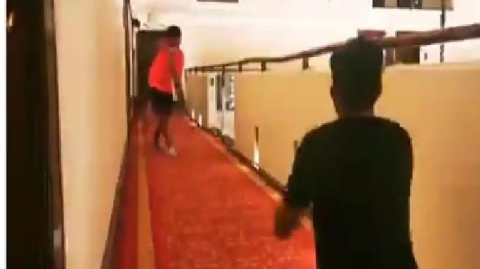 Pakistan skipper Babar Azam and other players play cricket with their kids in quarantine ahead of T20 World Cup – WATCH