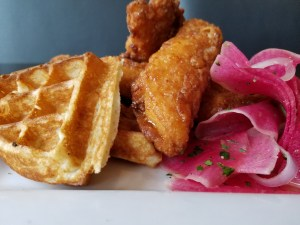 Chicken and Waffles- Brunch Menu at Grassroots Eatery on Southport