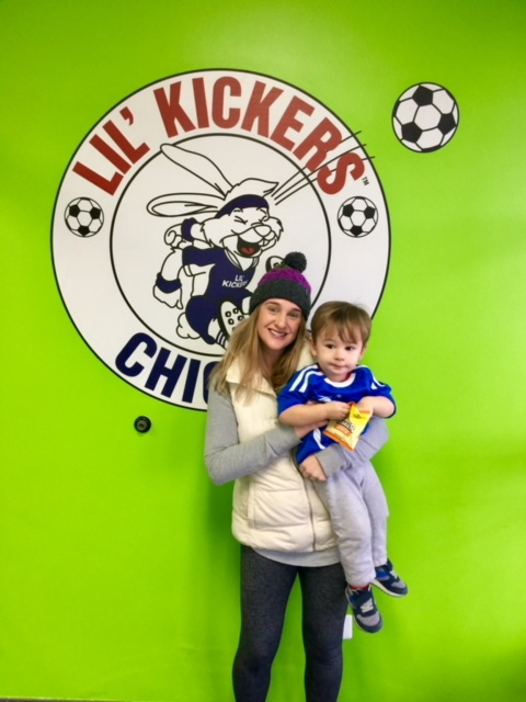 LIl' Kickers soccer practice