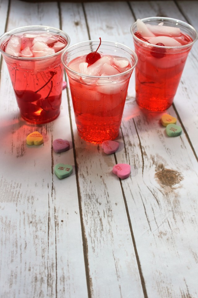 Shirley Temple Recipe using SOLO cups for Valentine's Day