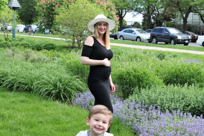 Pregnancy announcement at Lincoln Park Zoo Chicago Blogger