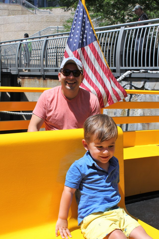 Chicago water taxi with my family