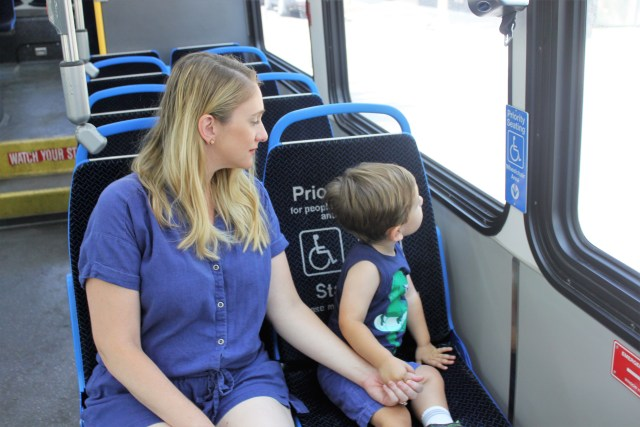 ditching our car for one month and taking public transportation