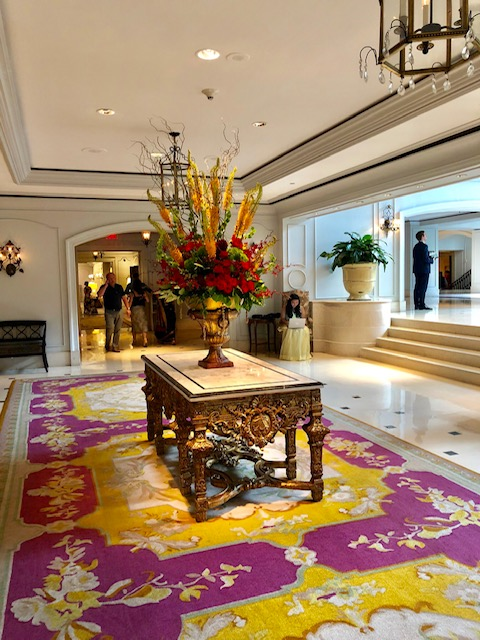 The Ritz Carlton is a beautiful building with great food, top notch service and the best experience for a couples trip. This is the main lobby.