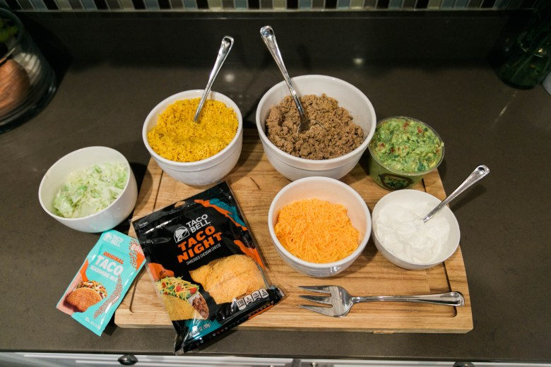 Taco Salad is a great weeknight meal and now Taco Bell has shredded cheese perfect for your family meals!