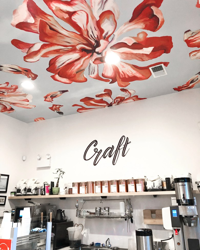 The hand painted mural at Necessary and Sufficient Coffee was painted by the owner. Such a cute shop in Logan square.