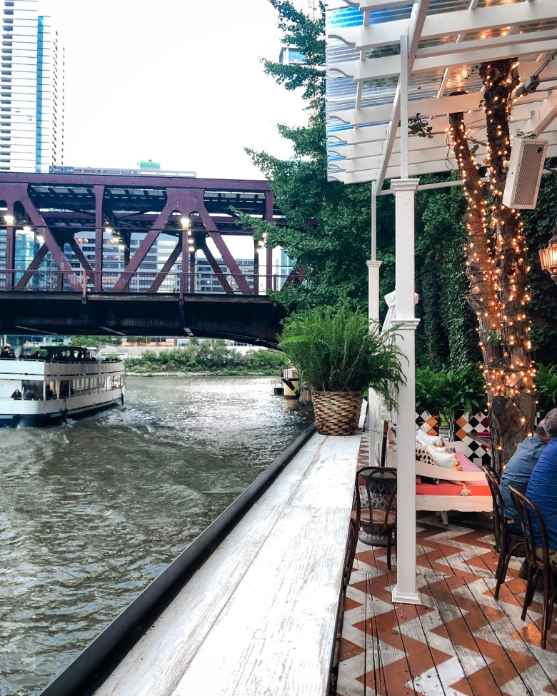 Beatnik on the River in downtown Chicago has a an awesome patio.