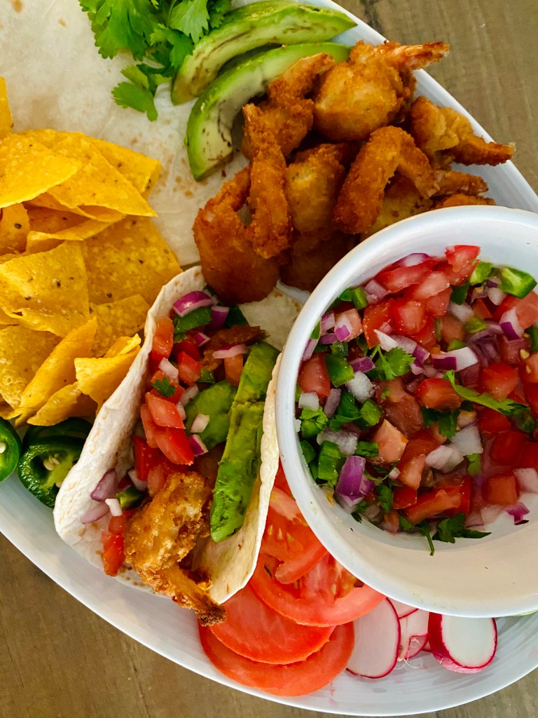 Creating this taco shrimp platter was so easy