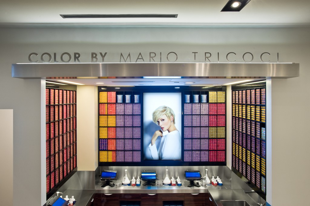 09/17/14. Chicago, IL. Mario Tricoci Salon & Day Spa - 900 North Michigan Avenue interiors. Photo by Glenn Kaupert. © Glenn Kaupert, 2014.