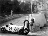 Rudolf Caracciola in a Mercedes SSK at the 1929 Monaco Grand Prix
