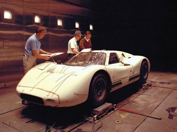 Ford J Car in the Wind Tunnel