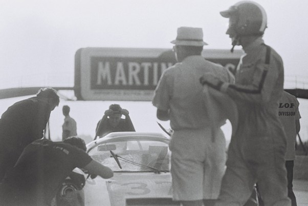 Porsche pits at the 1967 Sebring