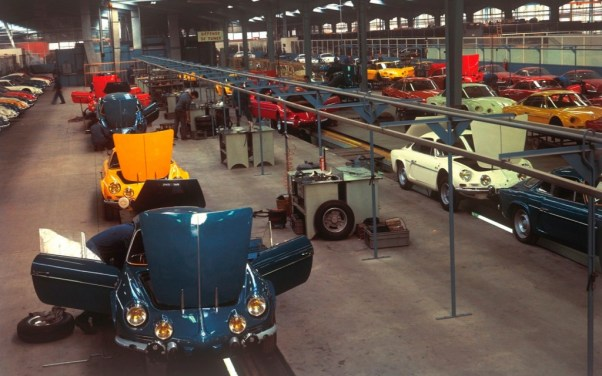 Alpine-Renault A110 assembly line