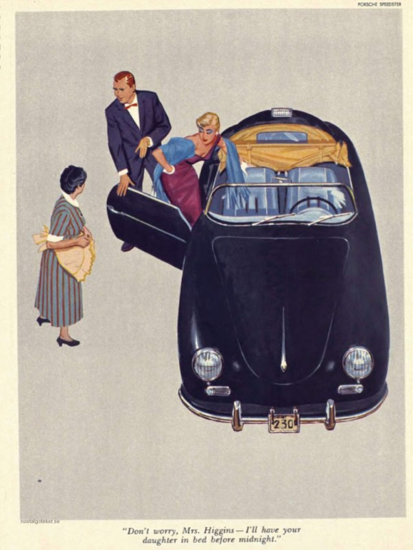 Porsche Speedster Cartoon