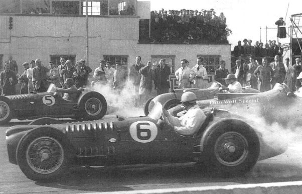 The start of the 1952 Woodcote Trophy. Goodwood.