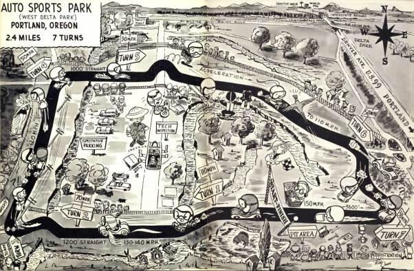Portland's Auto Sports Park Track Map