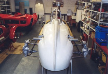 Steve McQueen's Cooper Formula Junior being restored at Hardy Hall