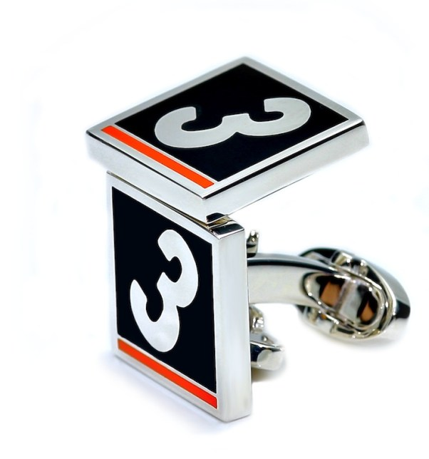 Monaco Cufflinks. Named for Graham Hill's victory at the 1965 Monaco Grand Prix