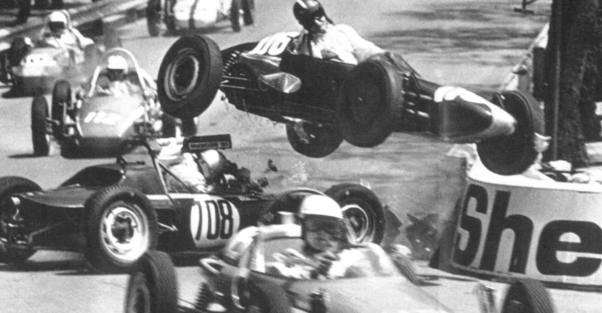 Nick Brittan takes the road less traveled at the 1967 Monaco GP support race