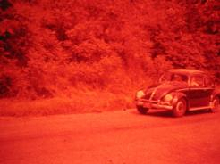 VW at Ole Smokey Hill Climb. Lowellville, OH. 1960.