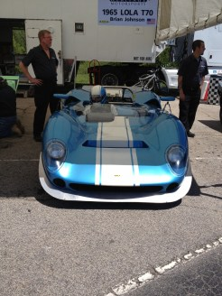 ACDC's Brian Johnson in the Paddock at the 2013 Mitty by Peter Hoag