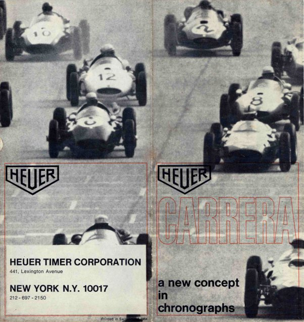 Heuer Brochure cover