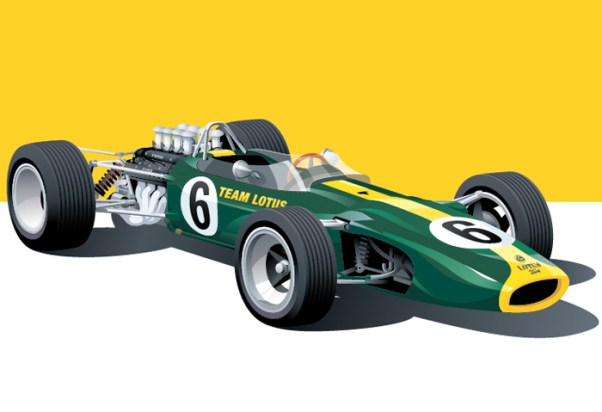 Lotus 49 illustration by Arthur Schening