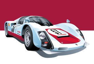 Porsche 906 illustration by Arthur Schening