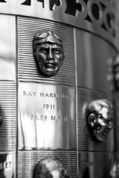 Ray Harroun relief on the Borg-Warner Trophy