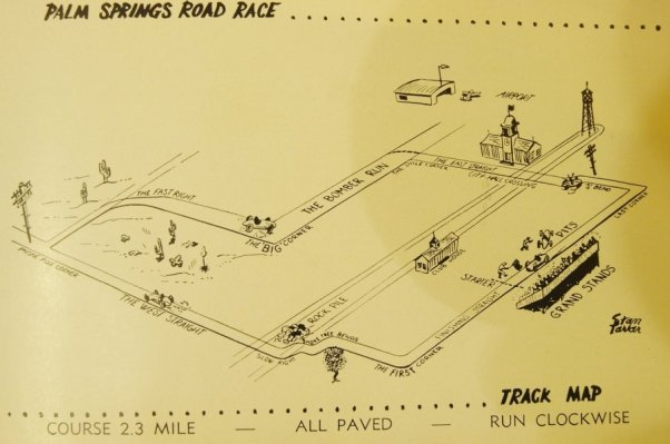 1952 Palm Springs Road Races Track Map