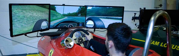 Classic Race Simulators racing sim booth