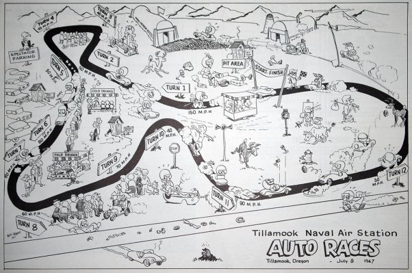 Tillamook Air Base Race Map 1967