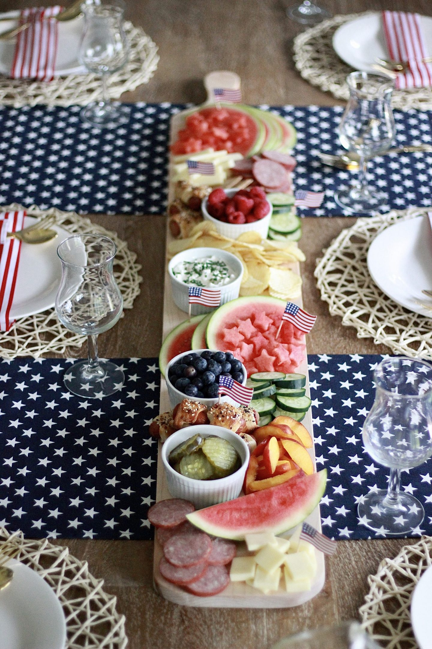 Budget Friendly 4th of July Spread