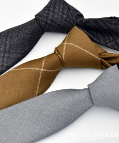 Casual Plaid Necktie for Men