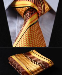 Classic Silk Tie and Handkerchief Set