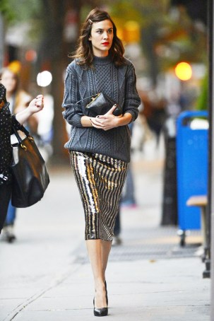 sequin-with-knitted-sweater