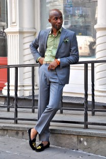 swag-velvet-slippers-scarf-belt-suit-streetstyle