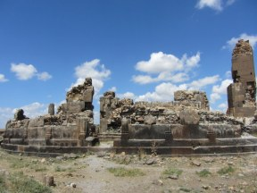 "These are the ruins of King Gagik's ""millennium"" church (Trdat again), and at first sight don't look terribly impressive."