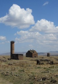 The eleventh-century Minuchihr mosque build by the Kurdish Shaddadids, the Armenian cathedral, and the tiny Church of the Redeemer.