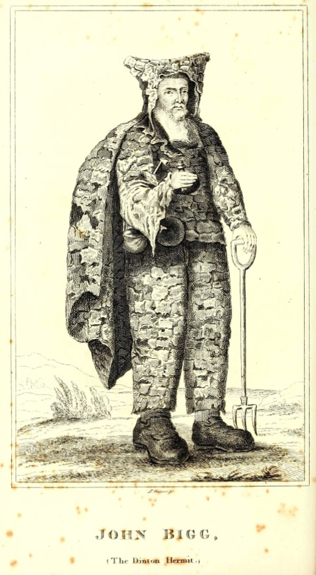 The dinton hermit, John Bigg is said to haunt the village.