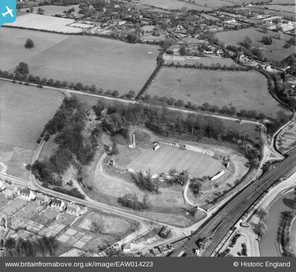 Arial view of the site taken in the 1940's.