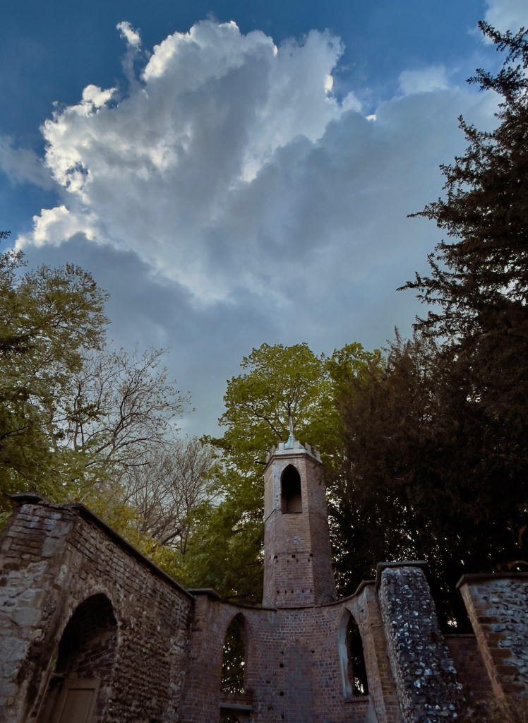 Storm clouds over St johns Mongewell
