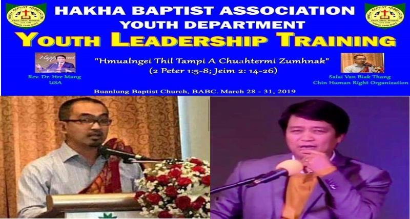 HBA Leadership Training Ah Rev. Dr. Hre Mang Le Salai Van Biak Thang Cawnpiaktu An Si Lai
