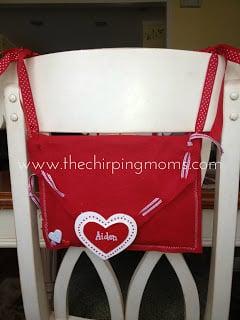 DIY Valentine Chair Backer